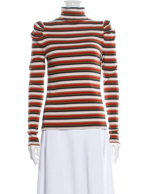 Veronica Beard Striped Turtleneck Sweater