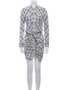 Veronica Beard Plaid Print Midi Length Dress
