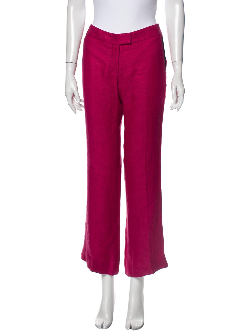Veronica Beard Linen Wide Leg Pants Pink - image 1