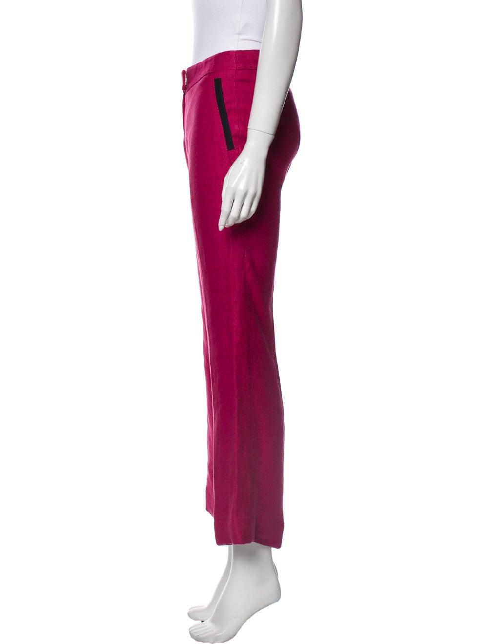 Veronica Beard Linen Wide Leg Pants Pink - image 2