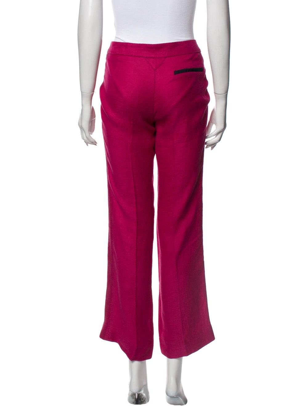 Veronica Beard Linen Wide Leg Pants Pink - image 3