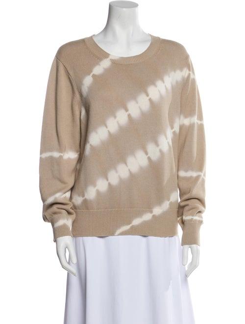 Veronica Beard Tie-Dye Print Crew Neck Sweater - image 1