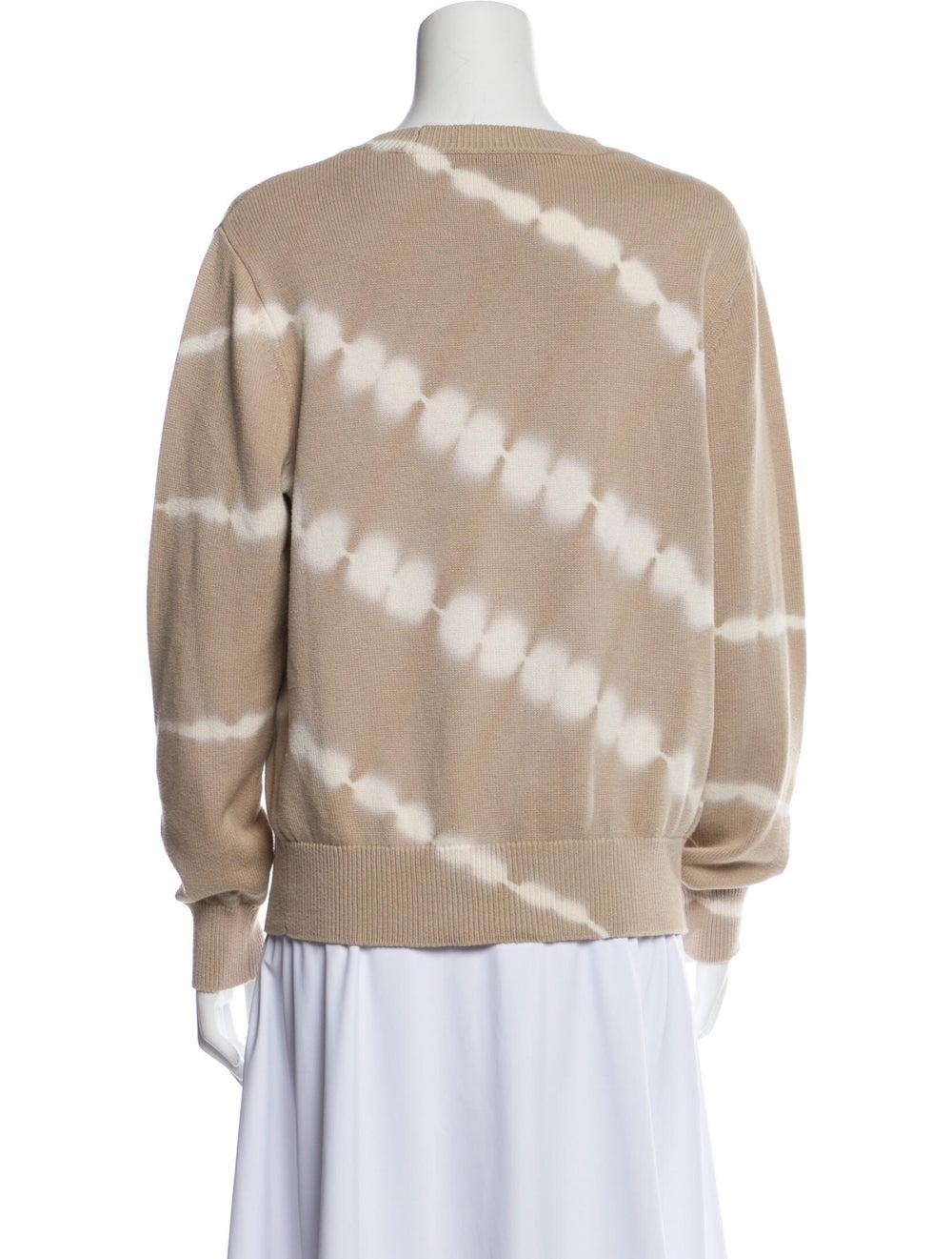 Veronica Beard Tie-Dye Print Crew Neck Sweater - image 3