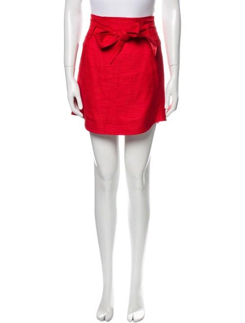 Veronica Beard Mini Skirt Red - image 1