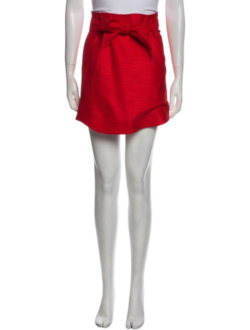 Veronica Beard Mini Skirt Red