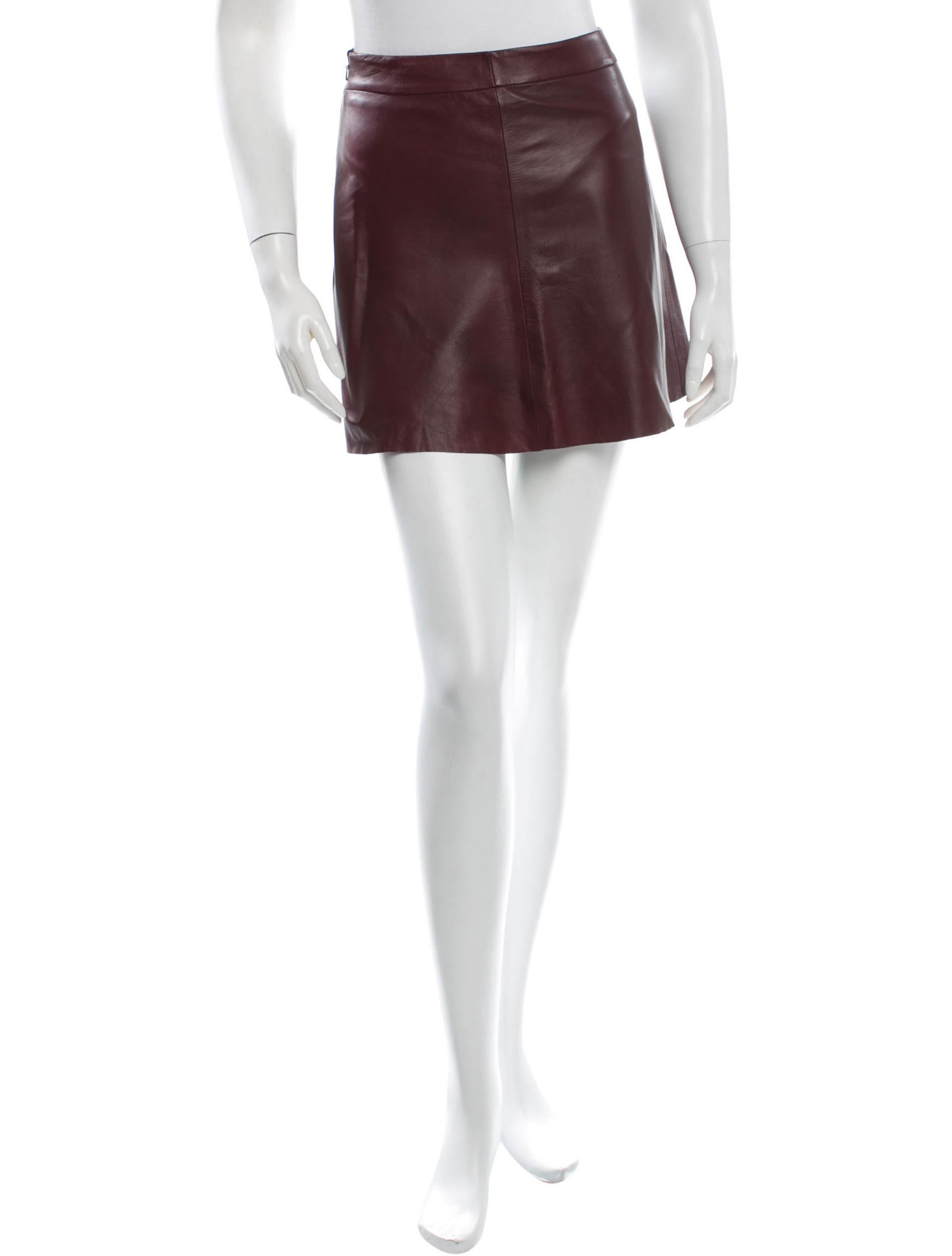 veda leather mini skirt clothing wv320304 the realreal