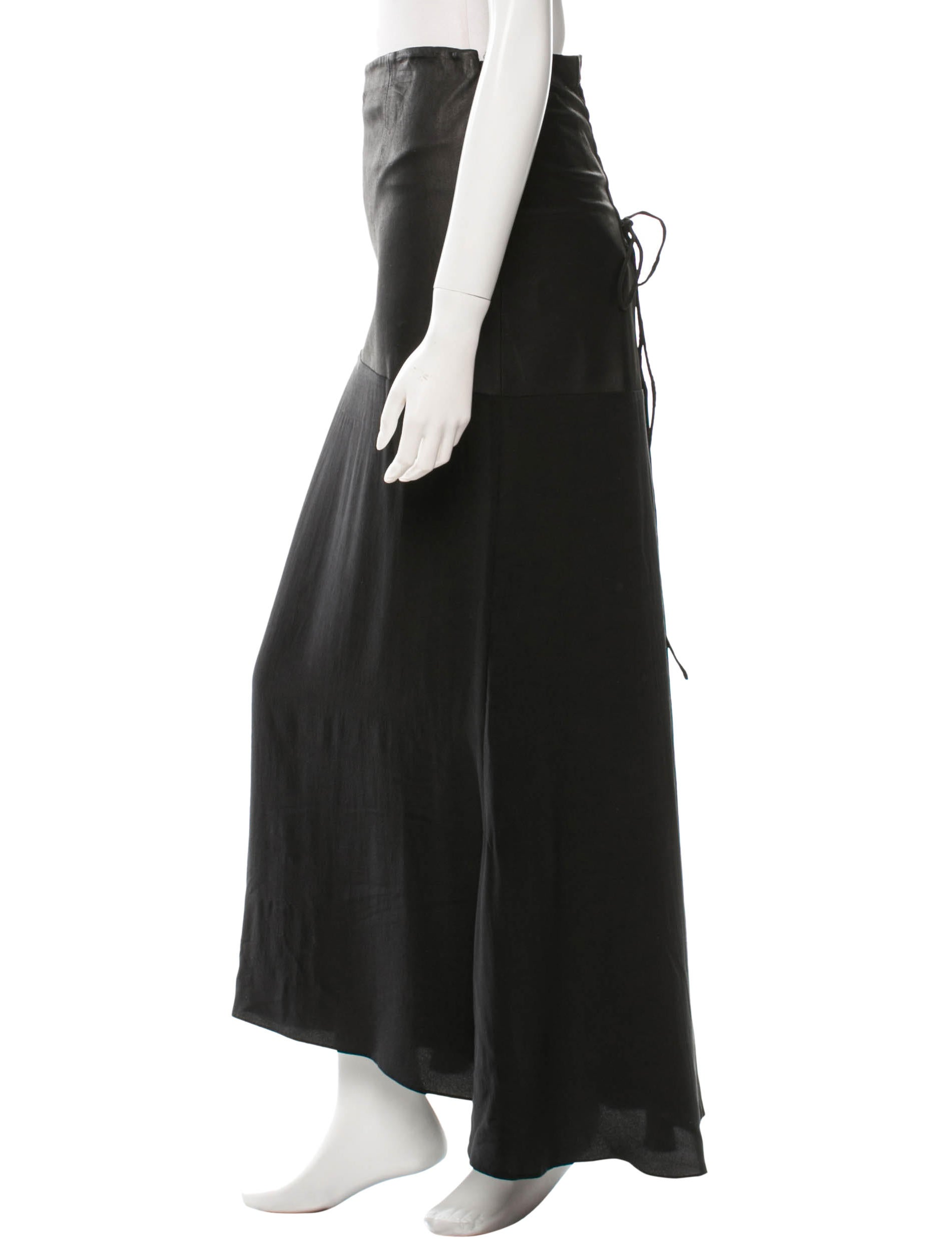 veda leather panled maxi skirt w tags clothing