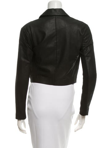 Leather Notch-Lapel Blazer