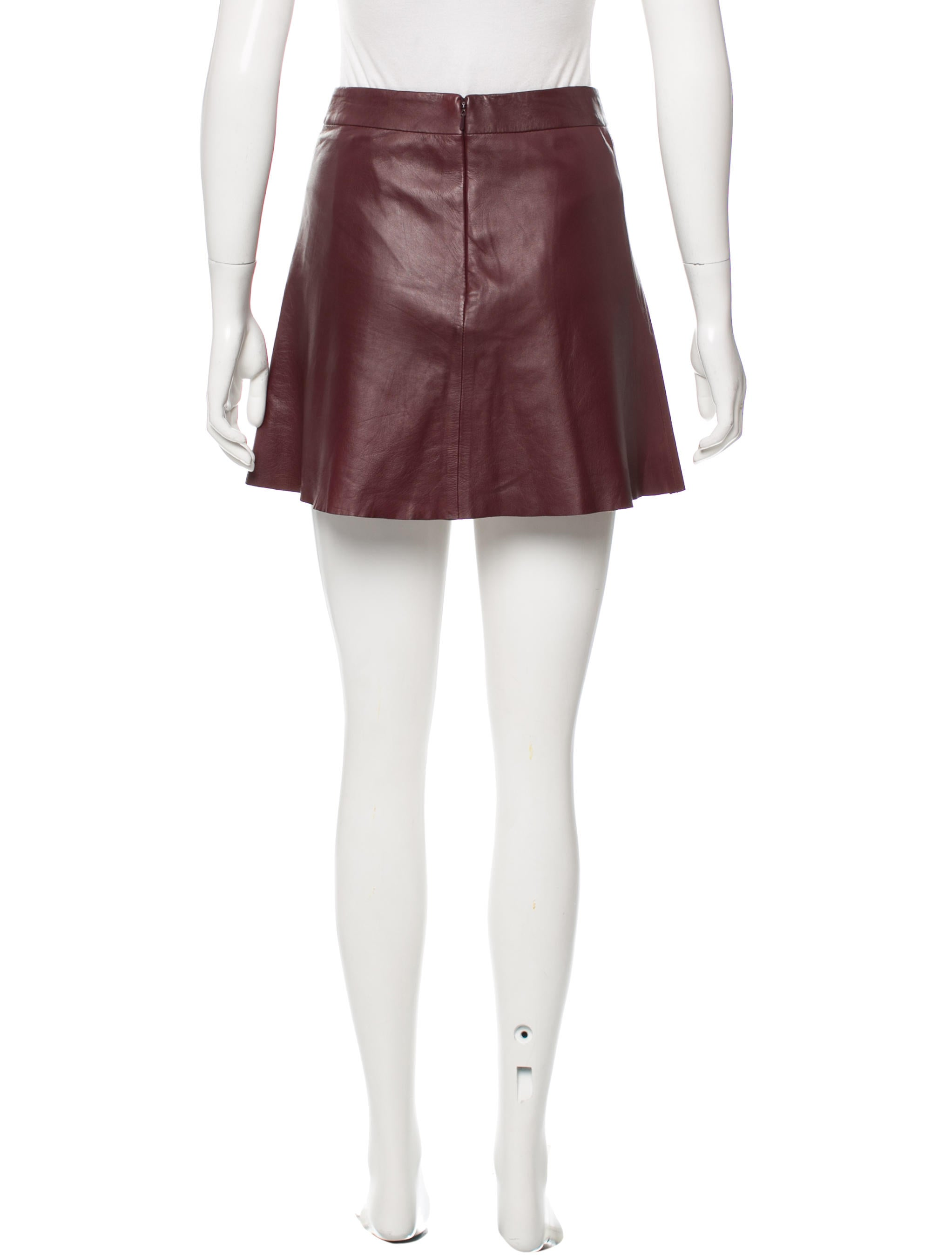 veda leather mini skirt clothing wv320967 the realreal
