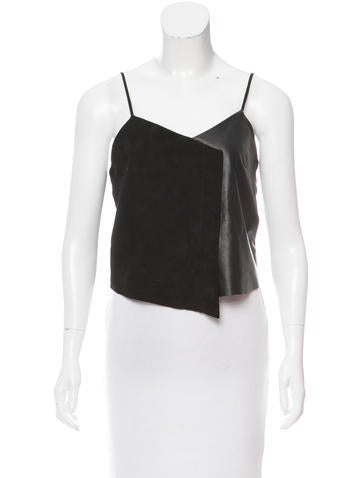 Veda Leather Crop Top None