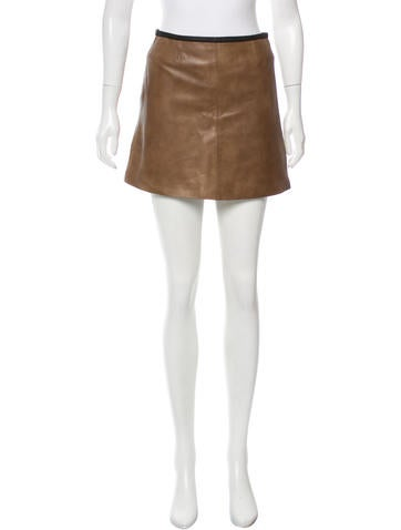 veda leather mini skirt clothing wv321240 the realreal