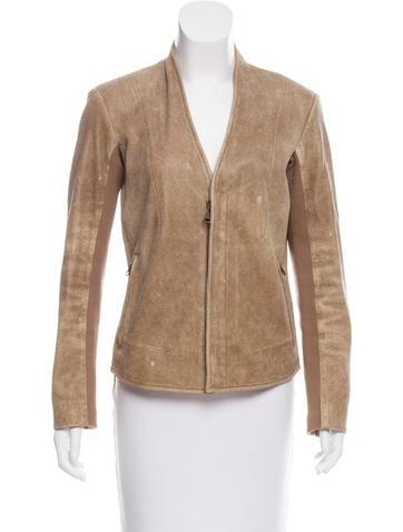 Veda Leather Zip-Up Jacket None