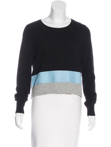 Veda Cashmere Leather-Accented Sweater w/ Tags None