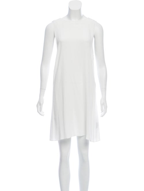Veda Hartley Leather-Accented Dress White