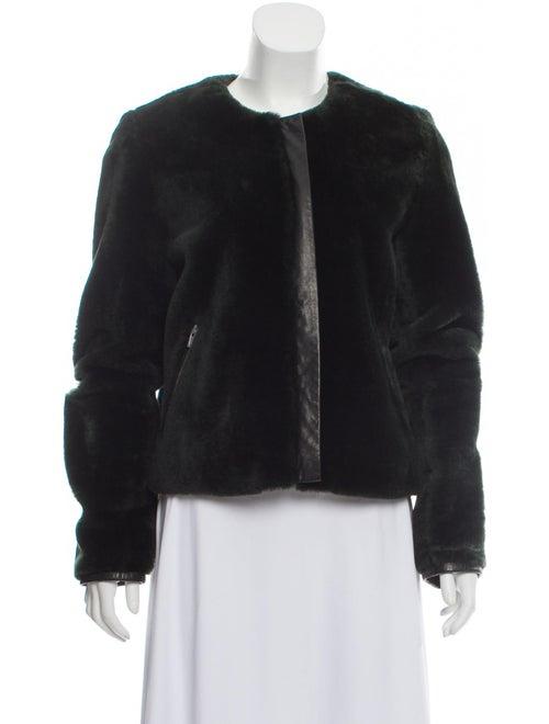Veda Shearling Fur Jacket Black