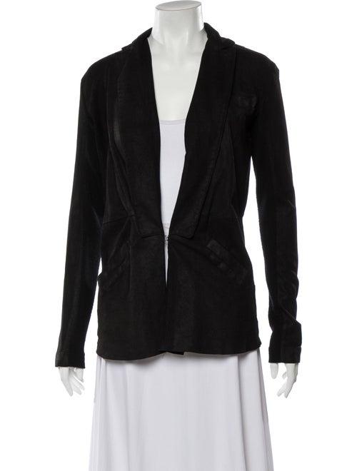 Veda Leather Blazer Black