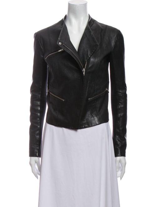 Veda Leather Biker Jacket Black