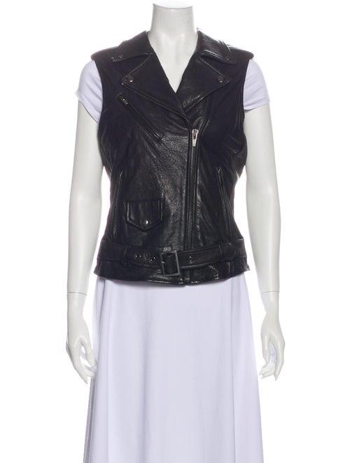 Veda Leather Vest Black