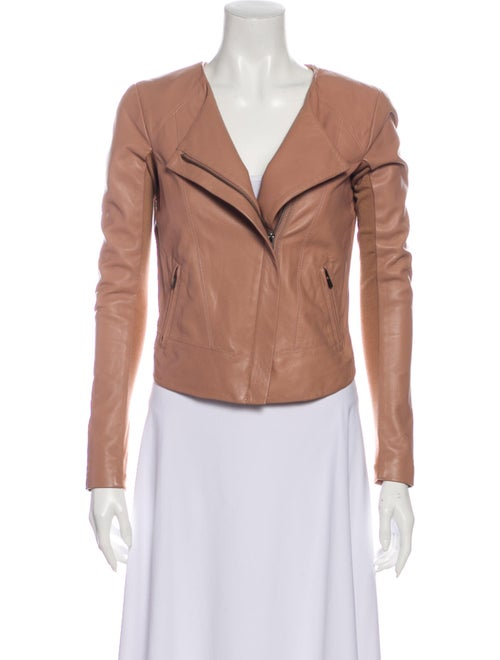 Veda Leather Biker Jacket Pink