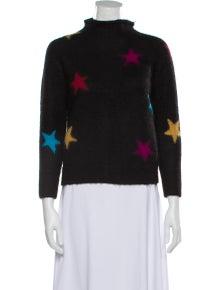 Veda Printed Mock Neck Sweater