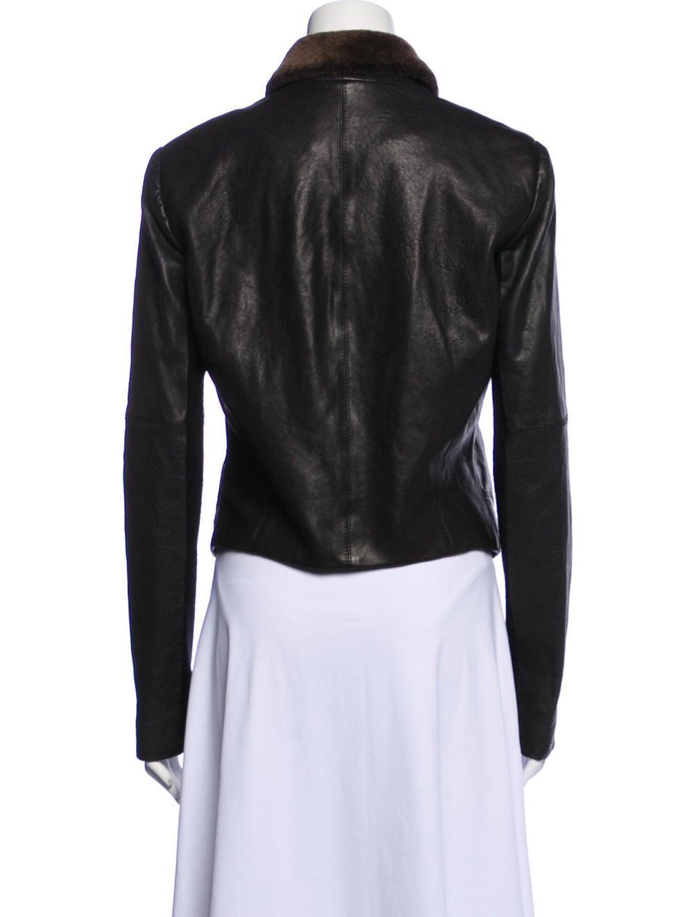 Veda Leather Biker Jacket Black - image 3