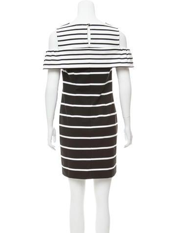 Striped Cold Shoulder Dress w/ Tags