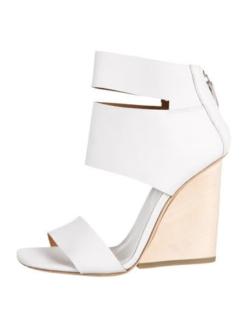 Leather Wedge Sandals w/ Tags