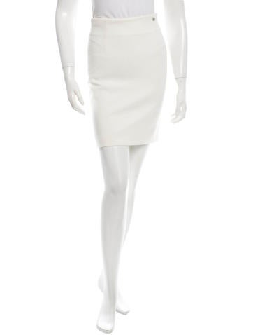 Versace Collection Rib Knit Skirt None