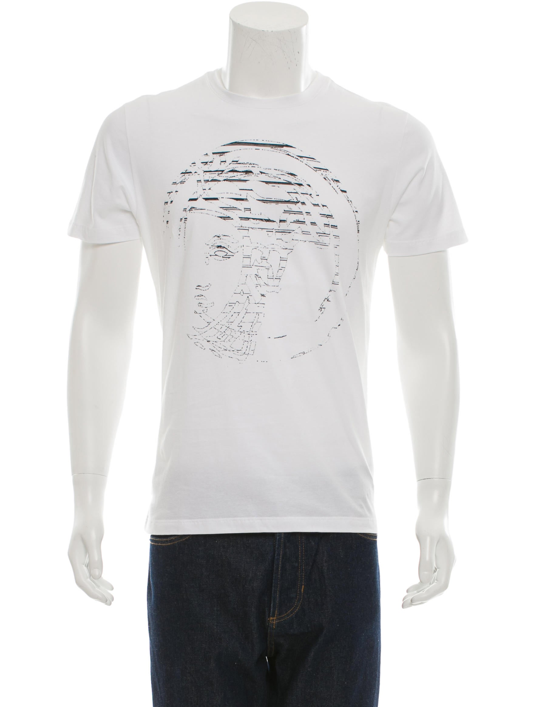 versace collection faded medusa seal t shirt w tags