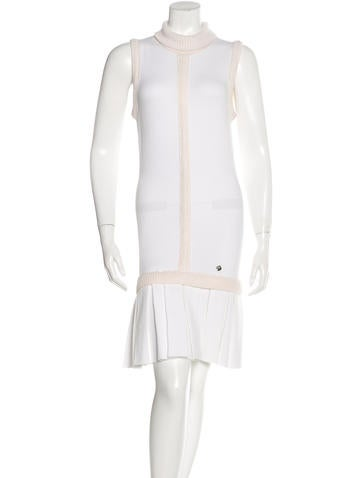 Versace Collection Drop Waist Knit Dress None