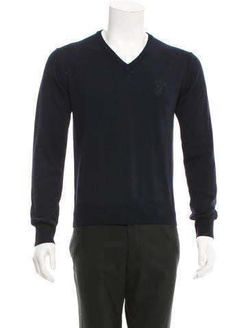 Versace Collection Medusa Wool Sweater w/ Tags None