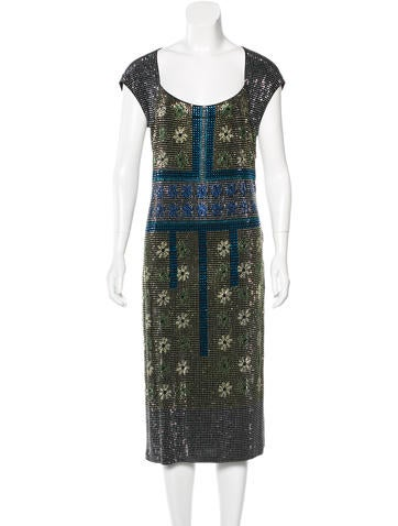 Versace Collection Embellished Cutout Dress None