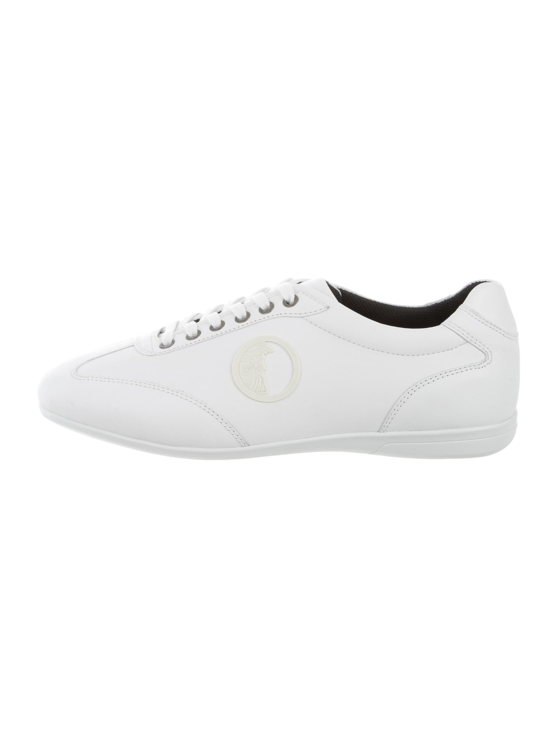 versace collection leather medusa sneakers w tags shoes