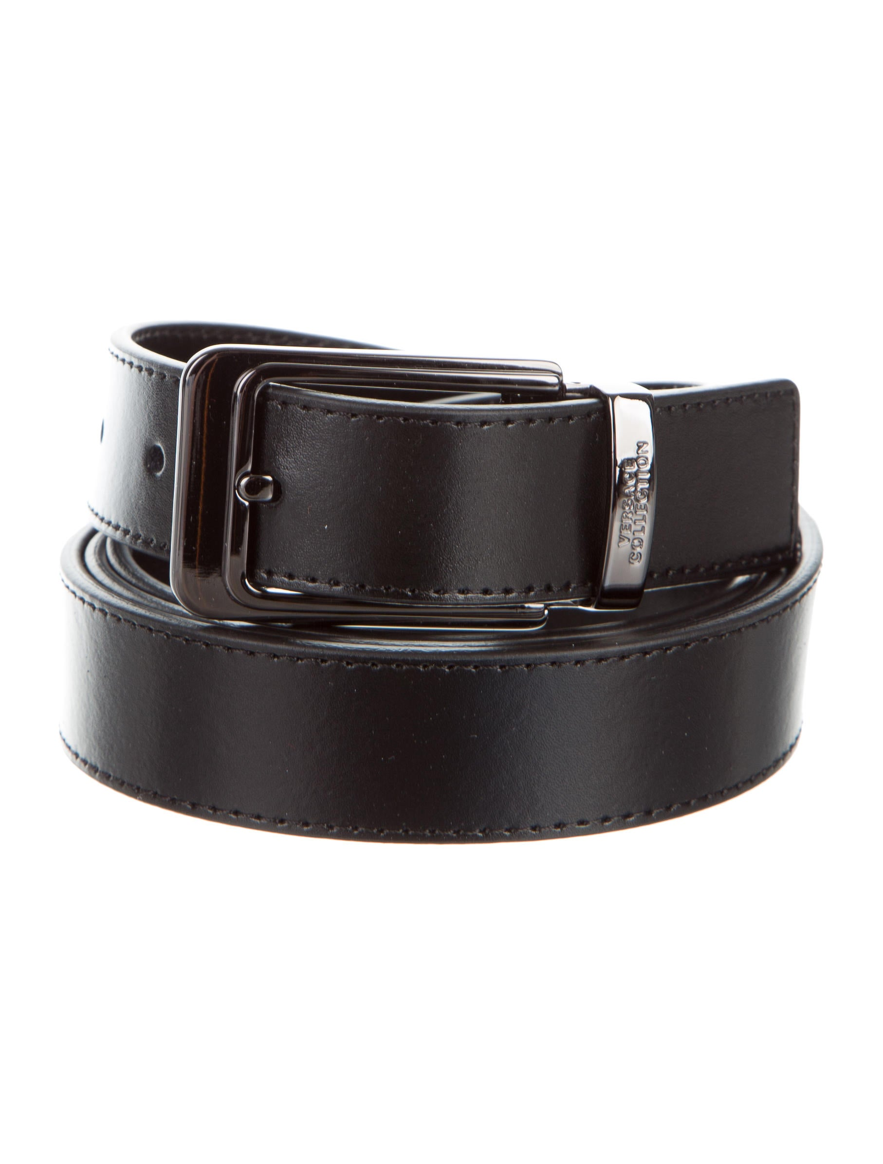 versace collection smooth leather belt w tags