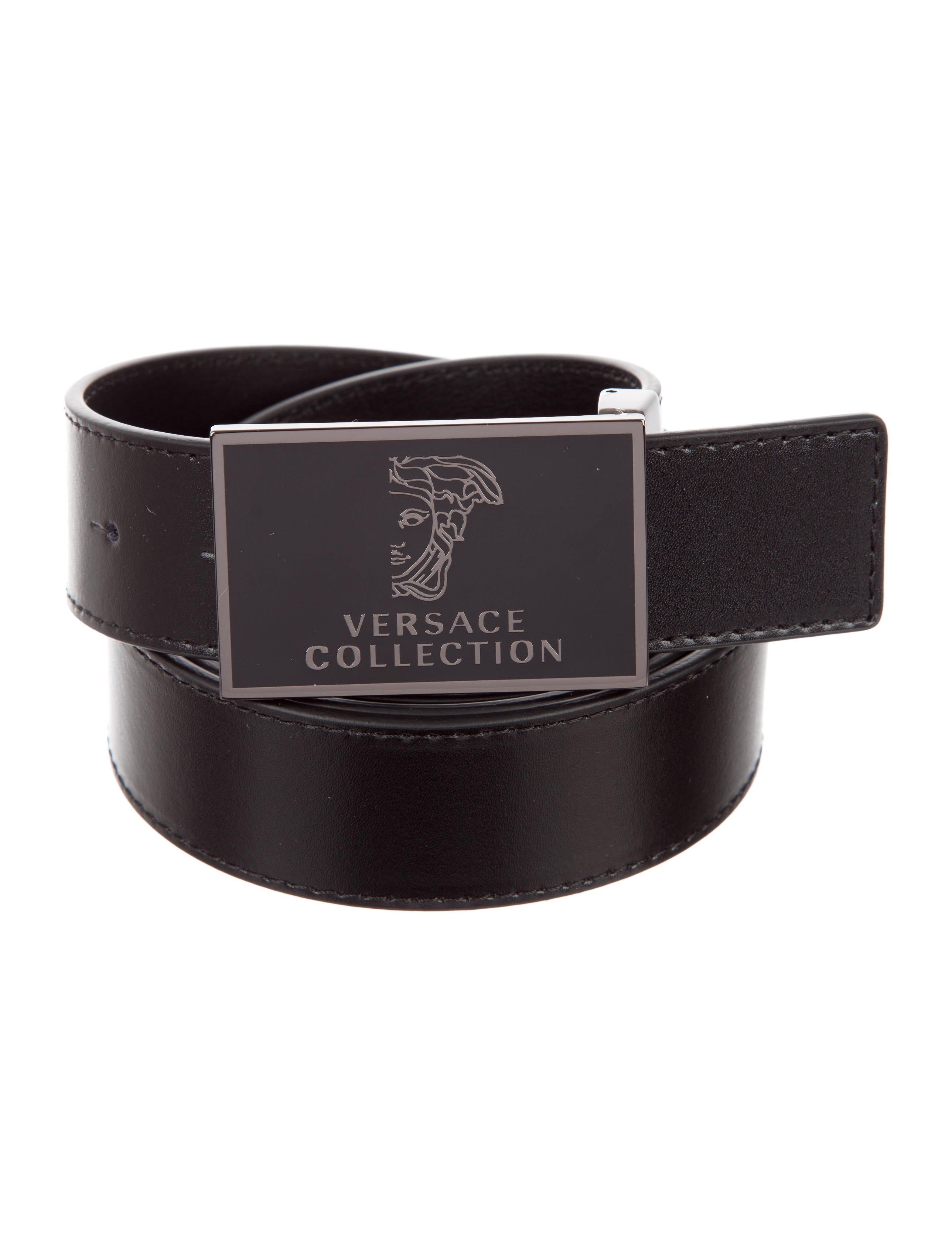 versace collection half medusa leather belt w tags