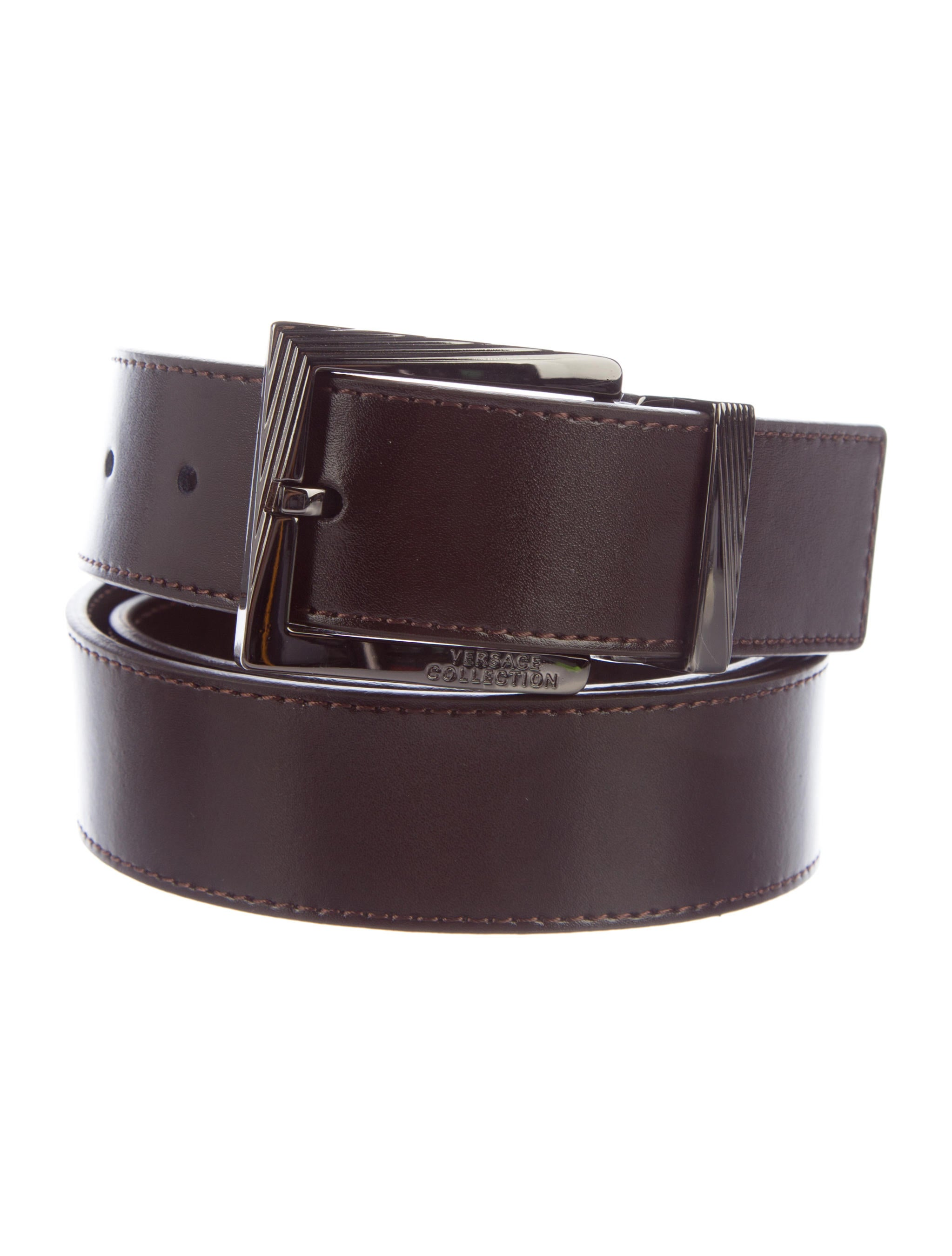 versace collection leather buckle belt w tags