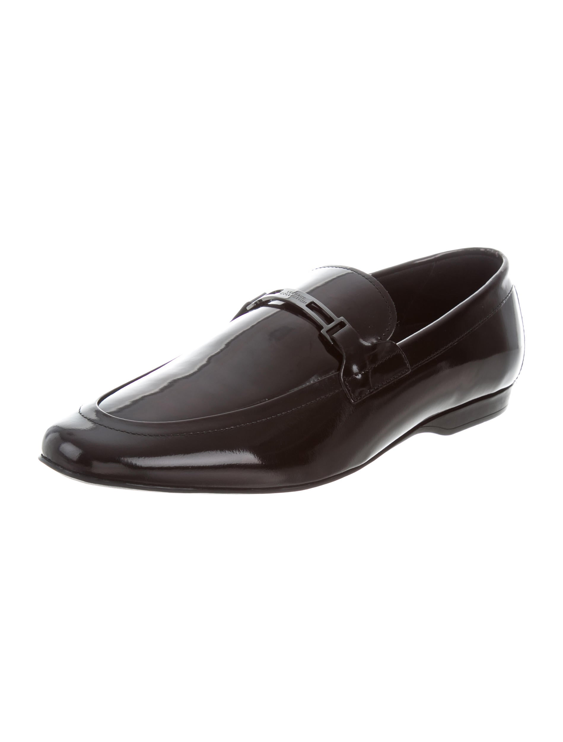 Versace Collection Patent Leather Round Toe Loafers w  : WV9218592enlarged from www.therealreal.com size 1898 x 2504 jpeg 97kB