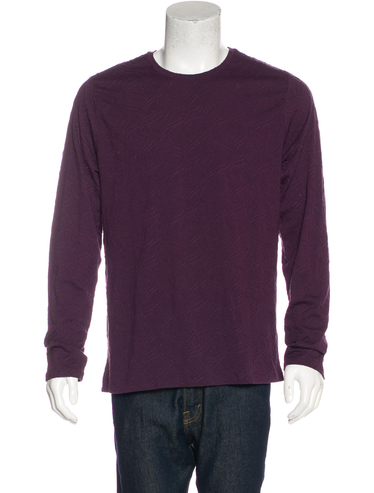 Versace collection embroidered long sleeve t shirt for How to embroider t shirts
