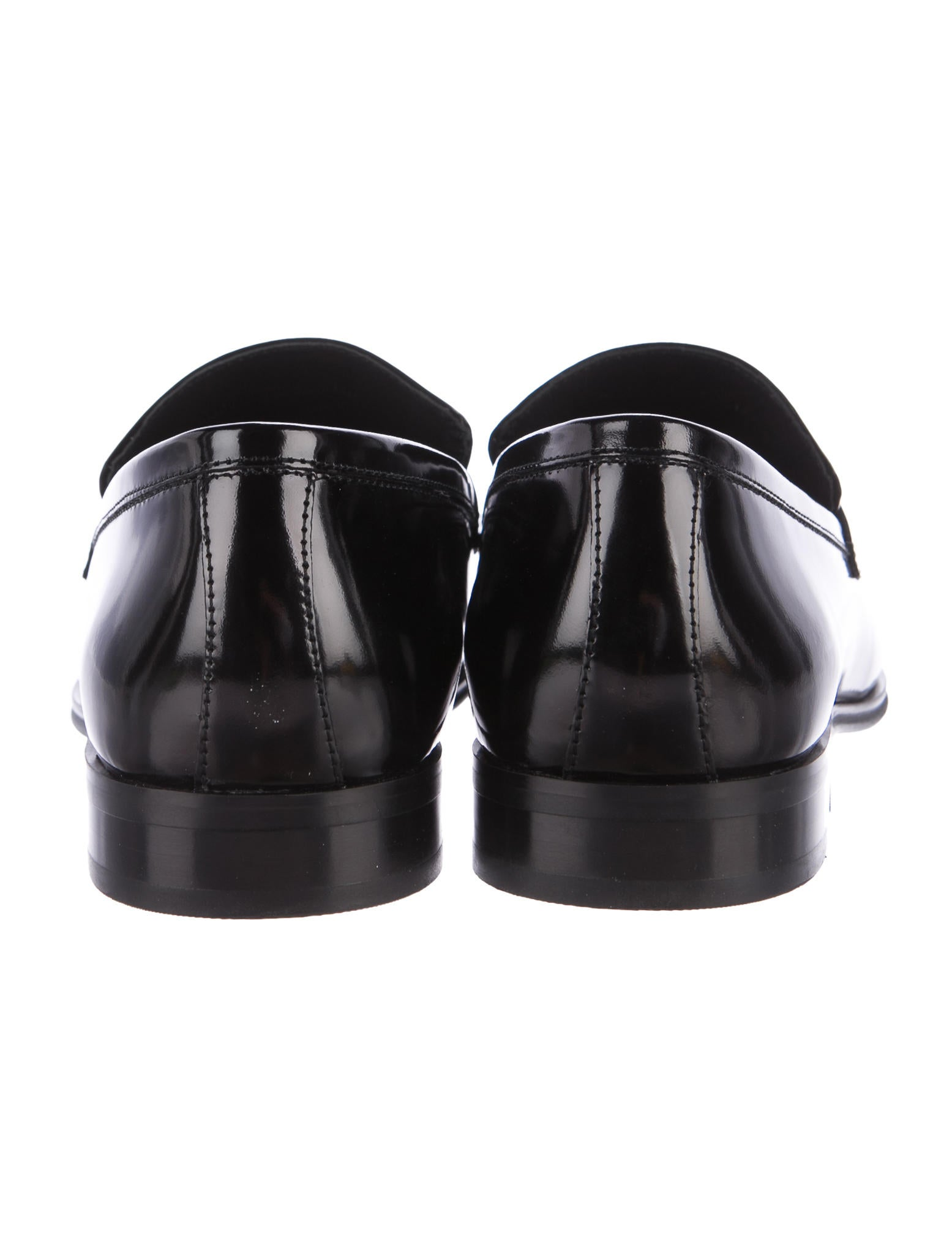Versace Collection Leather Penny Loafers Shoes  : WV9220004enlarged from www.therealreal.com size 1555 x 2052 jpeg 113kB