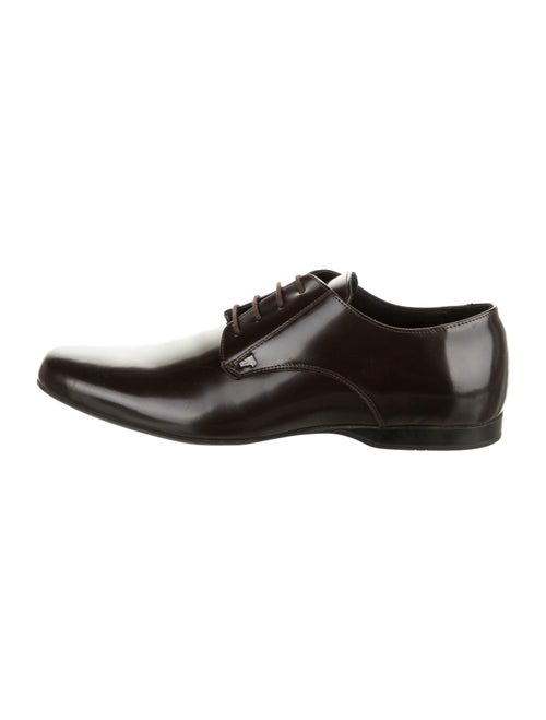 Versace Collection Leather Half-Medusa Derby Shoes