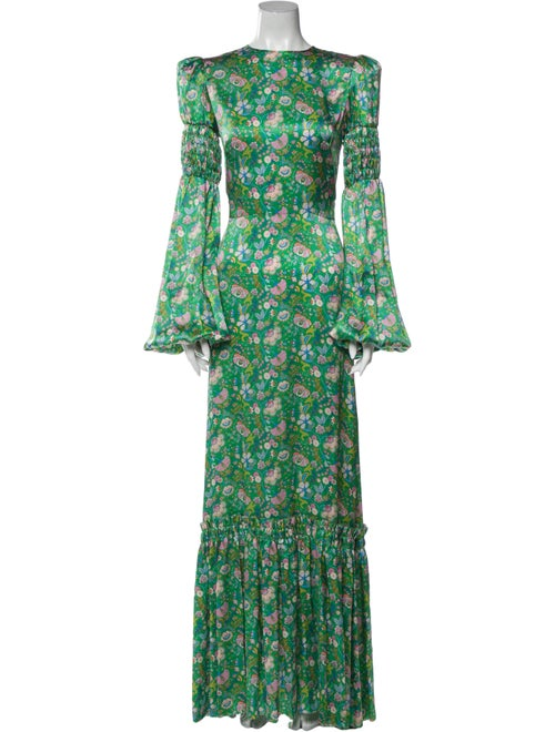 The Vampire's Wife The No. 9 Long Dress Green