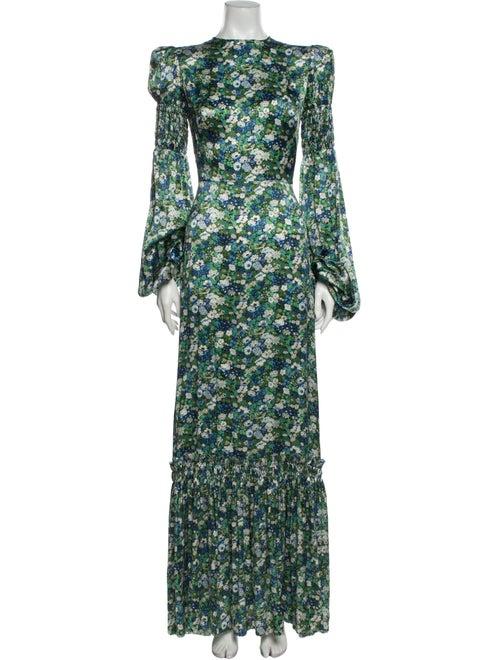 The Vampire's Wife Silk Long Dress Green