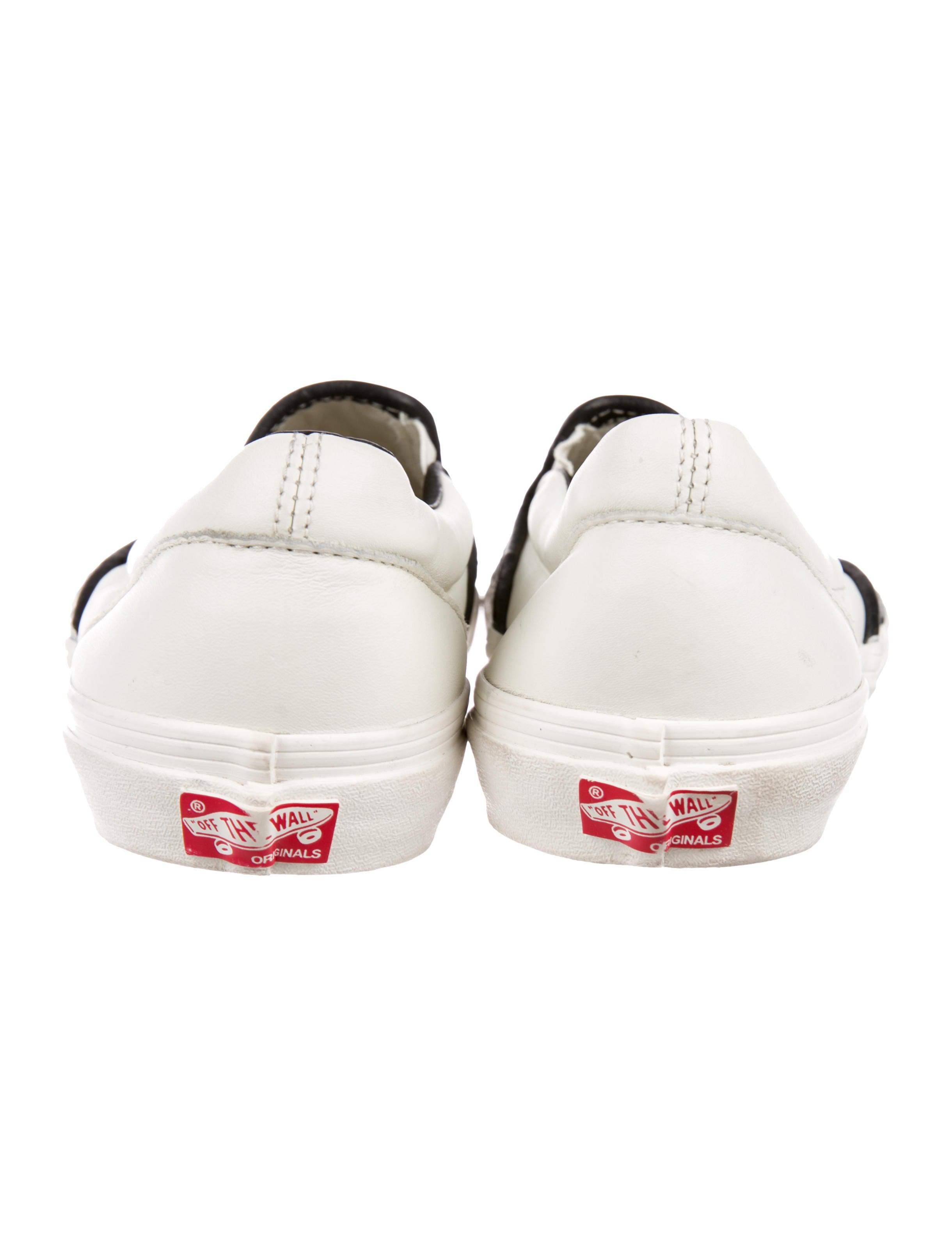 Vans Woven Leather Slip On Sneakers Shoes WVANS20120