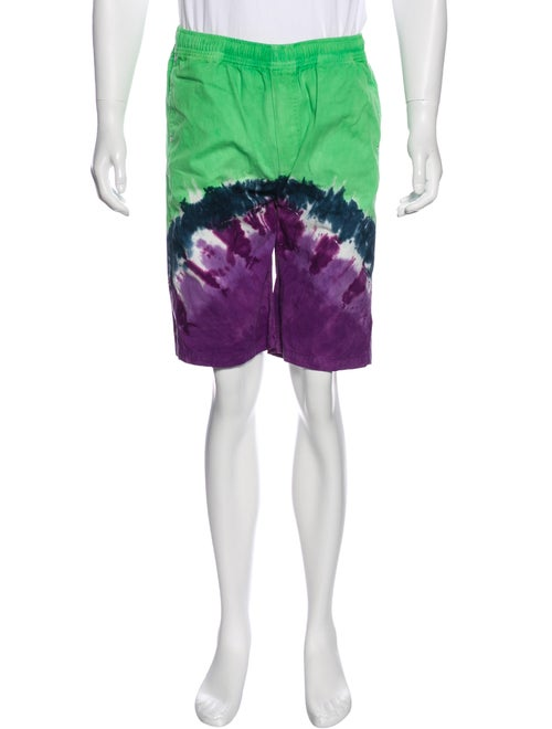 Vyner Articles Tie-Dye Flat Front Shorts green