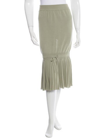Vanessa Bruno Athé Pleated Knit Skirt None