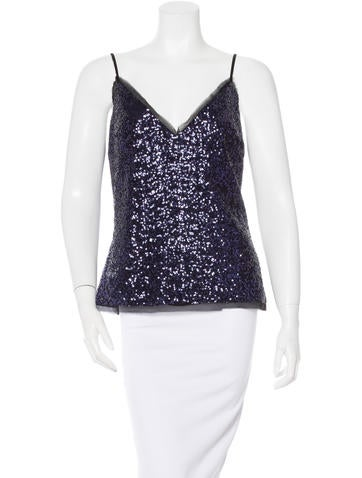 Vanessa Bruno Athé Sequinned Sleeveless Top w/ Tags None