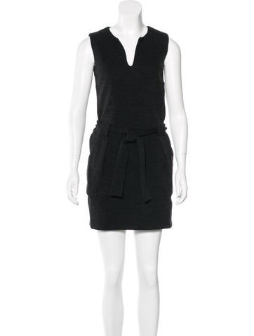 Vanessa Bruno Athé Wool-Blend Mini Dress None