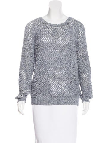 Vanessa Bruno Athé Open Knit Long Sleeve Sweater None