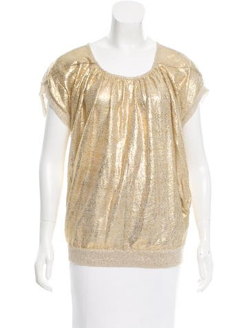 Vanessa Bruno Athé Metallic Mohair-Blend Sweater None