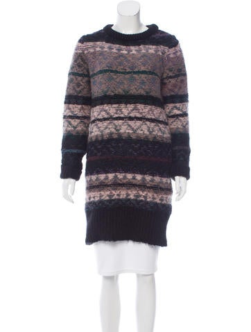 Vanessa Bruno Athé Patterned Sweater Dress None